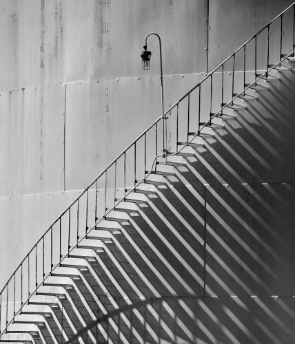 Mono-2nd-SHADY STAIRS-Janet Newton