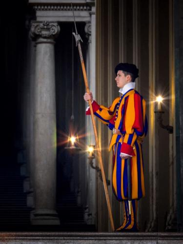 Advanced-Color-HM-Guarding the Pope-Donna Bowlick
