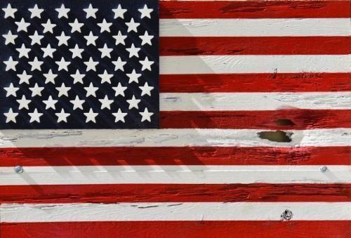 Nick Kahrs-Distressed Wood Flag