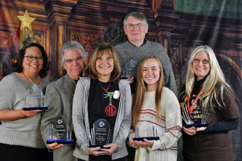 L-R-Crystal Berry-Gary Bowlick-Donna Taylor-Jerry Frost-Liz Frazier-Janet Newton