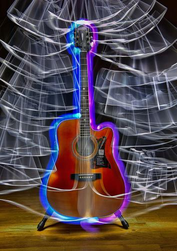 LIGHT PAINTED GUITAR by Greg Knobloch